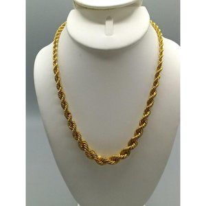 Vintage Monet Gold Tone Chunky Twist Necklace